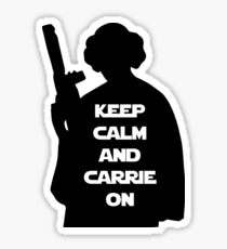 Keep Calm and Carrie On Sticker