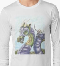 Lesbian Knight, Princess and Dragon Long Sleeve T-Shirt