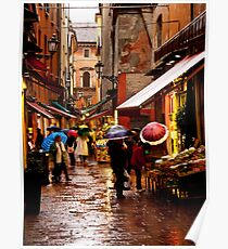 Shopping in the Rain Poster