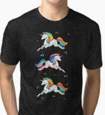 Rainbow Unicorns  Tri-blend T-Shirt