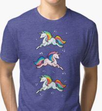 Rainbow Unicorns  Tri-blend T-Shirt