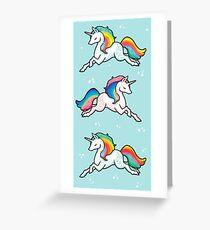Rainbow Unicorns  Greeting Card