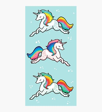 Rainbow Unicorns  Photographic Print