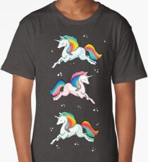 Rainbow Unicorns  Long T-Shirt
