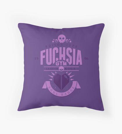 Fuchsia Gym Throw Pillow
