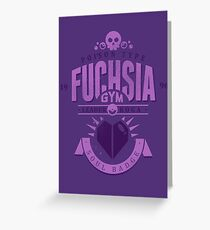 Fuchsia Gym Greeting Card