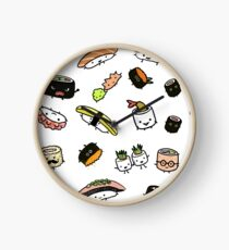 Sushi Characters Pattern Clock