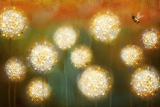 bee and the blowballs by Martina Stroebel