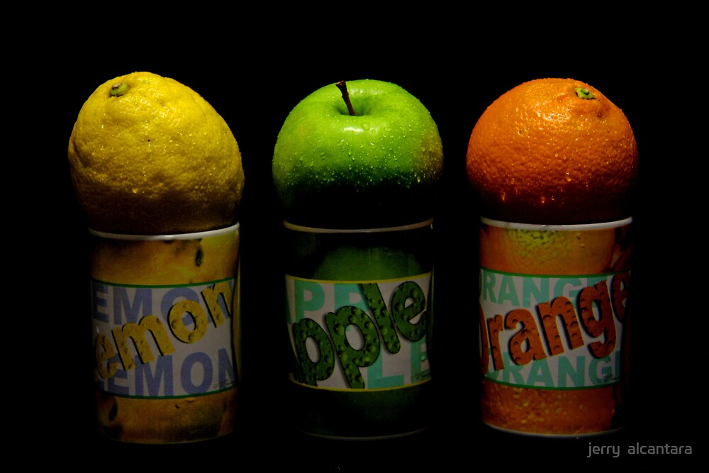 Lemon Apple Orange by jerry  alcantara