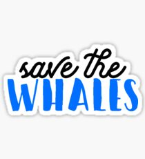 Save the Whales Sticker