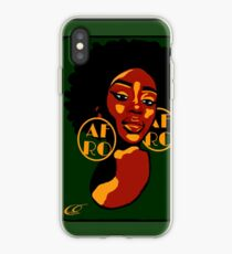 Classic Afro Diva iPhone Case