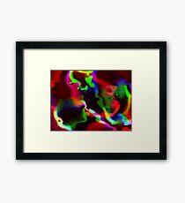 neon ribbons1 Framed Print