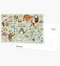 Ghibli Studios characters  Postcards