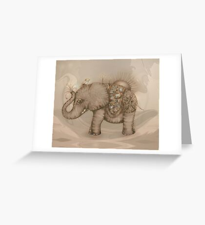 Magic Elephant Greeting Card