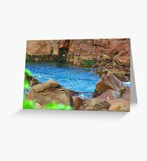 Birubi Beach Rocks Greeting Card