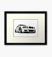 E46 M3 CarToon Framed Print