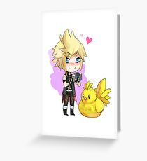 Chibi Prompto Stickers and More! Greeting Card