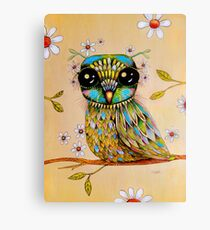 the peridot owl Canvas Print