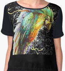 Colorful Parrot Artwork Women's Chiffon Top