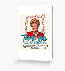 Jessica Fletcher Doesn't Need Your Input Greeting Card