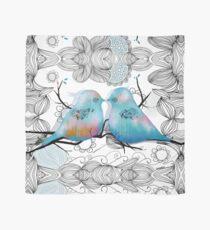Turquoise Love Birds Scarf
