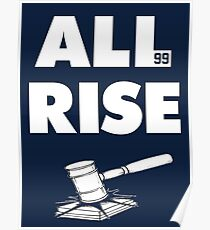 ALL RISE Aaron Judge NY Yankees  Poster
