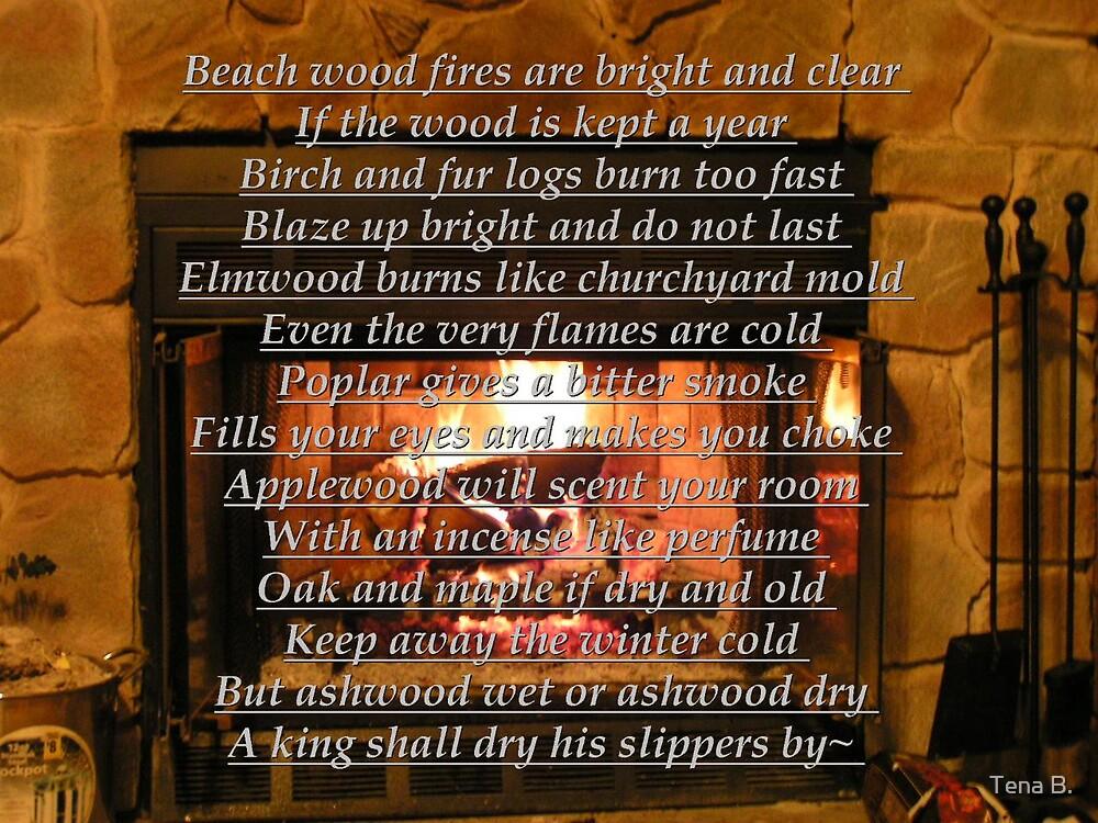 Fireplace poem by Tena B.