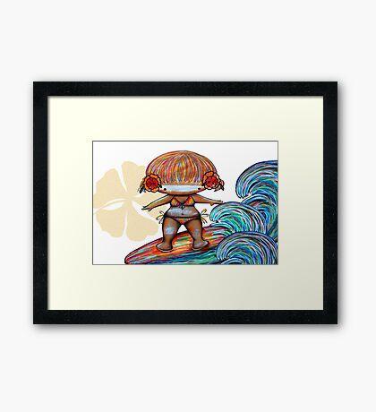Malibu Missy Framed Print
