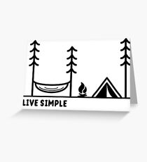 Live Simple Greeting Card