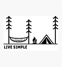 Live Simple Photographic Print