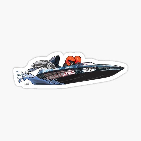 Speed Boat CarToon Sticker