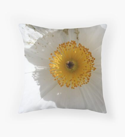 Prickly poppy Throw Pillow