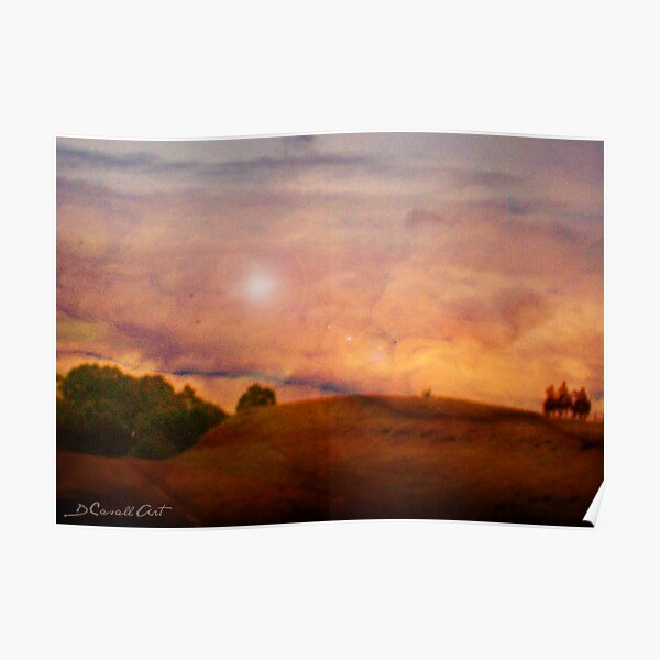 Riding into Sunset Poster