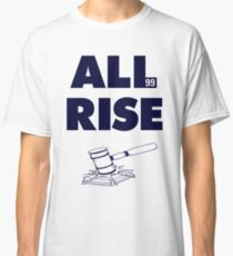 ALL RISE Aaron Judge NY Yankees Navy Print Classic T-Shirt