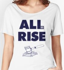ALL RISE Aaron Judge NY Yankees Navy Print Women's Relaxed Fit T-Shirt