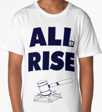 ALL RISE Aaron Judge NY Yankees Navy Print Long T-Shirt