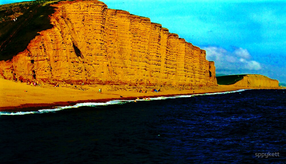 cliffs over west bay by sppykett