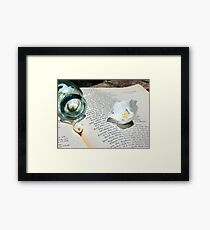 Flowers and the Canto Framed Print