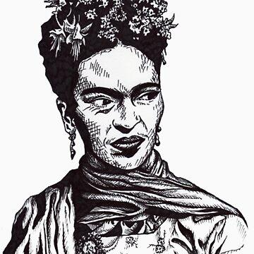 Tender Self Belief (portrait of Frida Kahlo) by Eliq