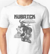 Stanley Kubrick Schwarz und Weiß Slim Fit T-Shirt
