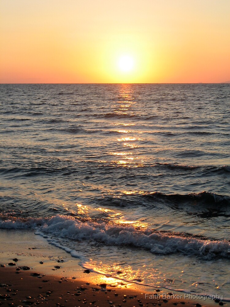 Greek Sunset by Faith Barker Photography