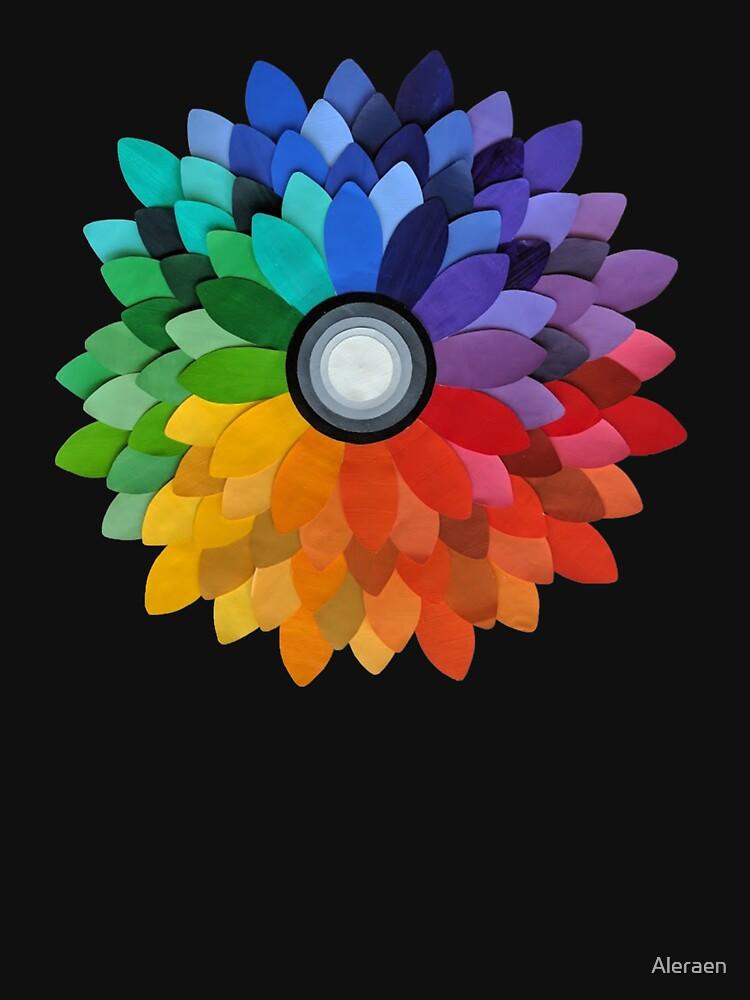 Color Wheel Flower Pullover Hoodie By Aleraen Redbubble