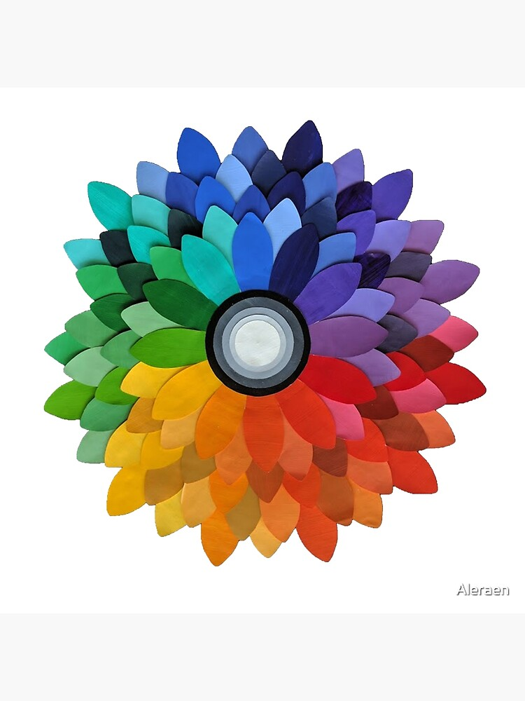 Color Wheel Flower Greeting Card By Aleraen Redbubble
