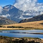Southern Alps and lake by Roger Neal