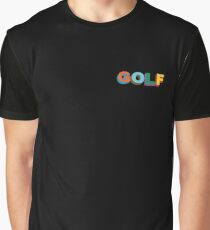 Multi-Color 3D Golf Wang Side Logo Graphic T-Shirt