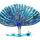 Peacock - Blue Elegance by Linda Callaghan