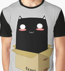 Black Cat in a Box Graphic T-Shirt