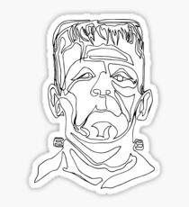 Frank - One Line Drawing Sticker