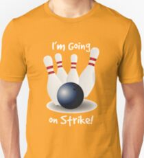 Ten Pin Bowling Design Unisex T-Shirt