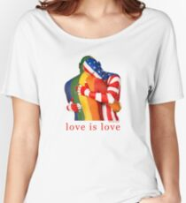 Love Is Love - Rainbow Pride Women's Relaxed Fit T-Shirt